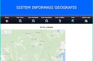 Sistem informasi, Gis, Web, PHP, MySQL