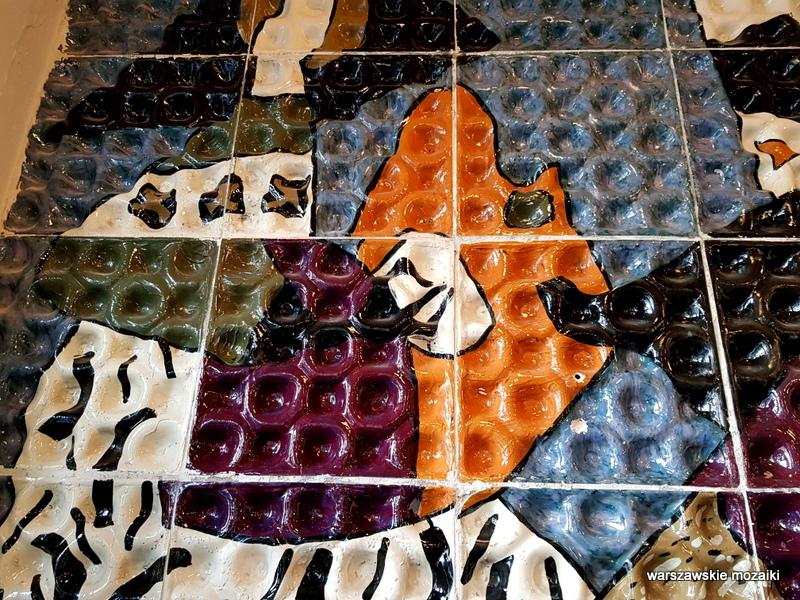 manekiny Warszawa Warsaw mozaika 1960 zachęta Helena Lech Grześkiewicz Marszałkowska 45/49 warszawskie mozaiki okładzina ceramiczna ceramika  u krawców