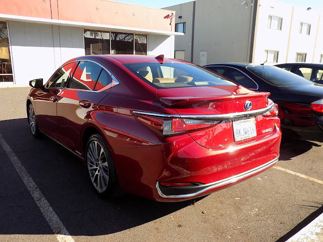 Lexus with auto body repairs completed by Almost Everything Auto Body.