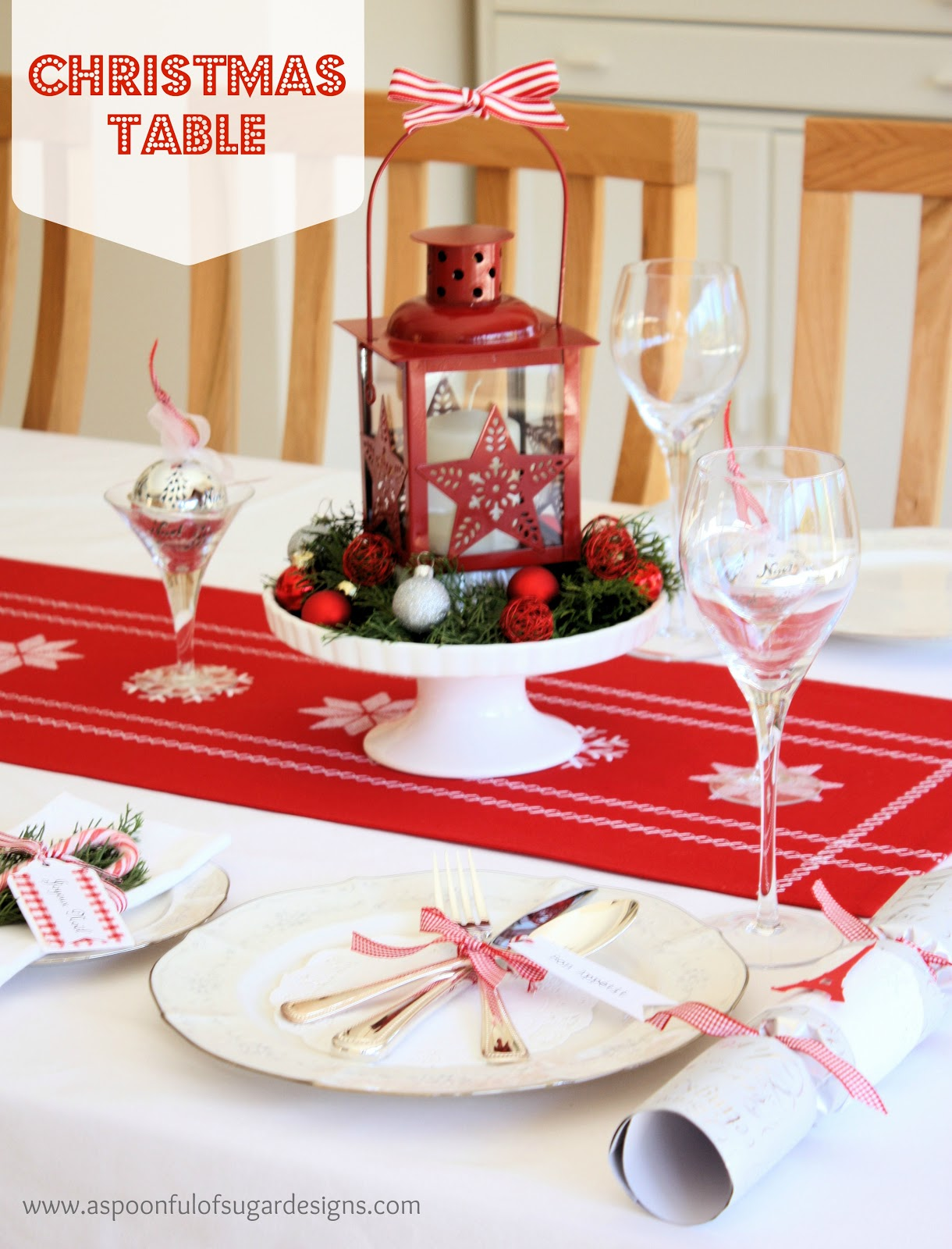 Our christmas table a spoonful of sugar - Christmas table setting ideas ...