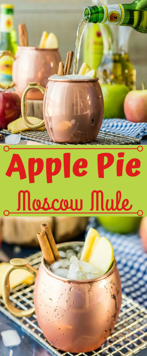 APPLE PIE MOSCOW MULE #apple #sangria #mule #party #easy