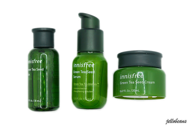 Innisfree Green Tea Seed Skin, Serum and Cream