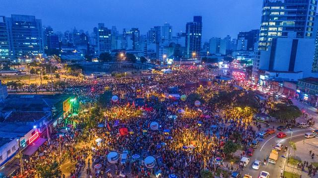 São Paulo- lago do batata-em 28 de abril de 2017-greve geral grandiosa.