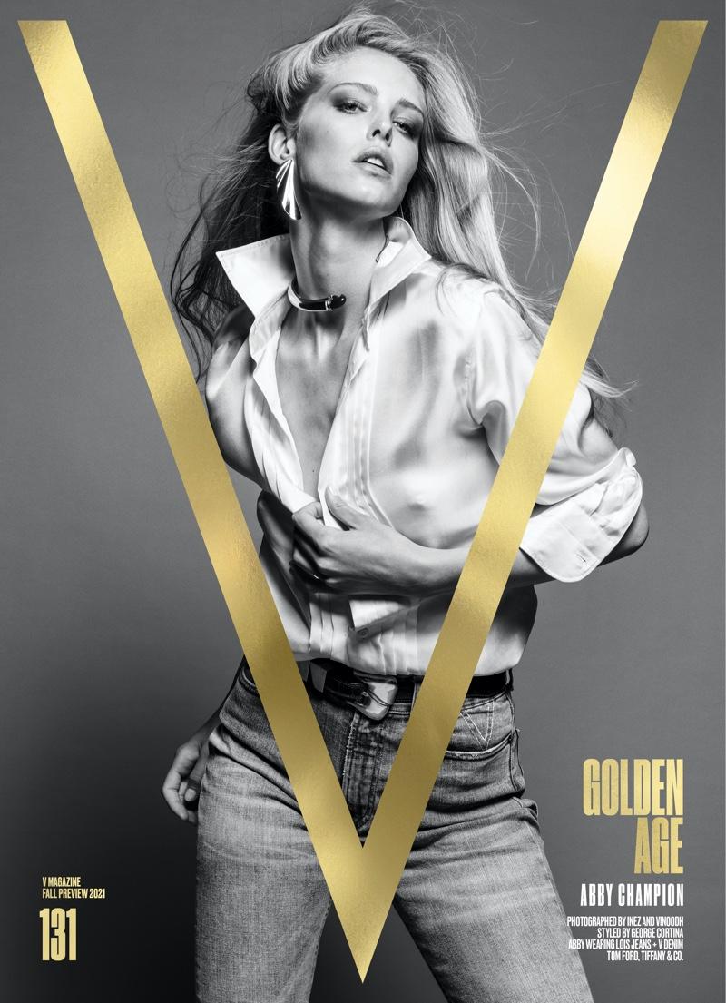 Abby Champion on V Magazine #131 Pre-Fall 2021 Cover. Image: Courtesy of V Magazine / Inez & Vinoodh