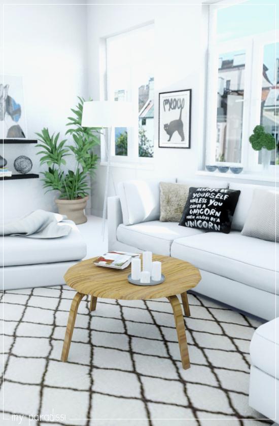 3d Room Interior Design: 3D Living Room Visualization