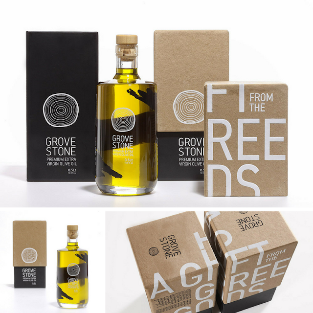 Grove stone olive oil packaging • the round button blog