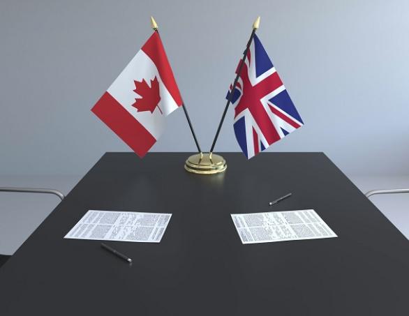 لندن توقع اتفاقية تجارية بعد خروج بريطانيا من الاتحاد الأوروبي مع كندا