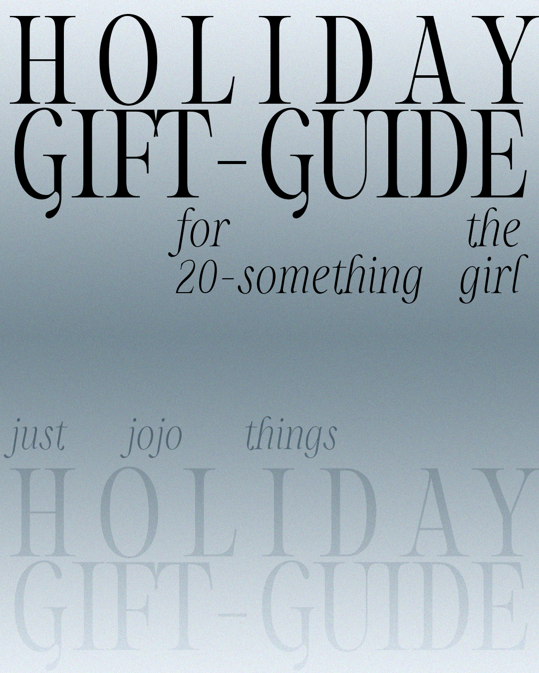 Holiday Gift Guide for girl in her 20s, young adult gift guide, Holiday gift guide