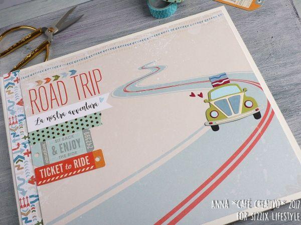 Scrapbooking Mini Album Open Road