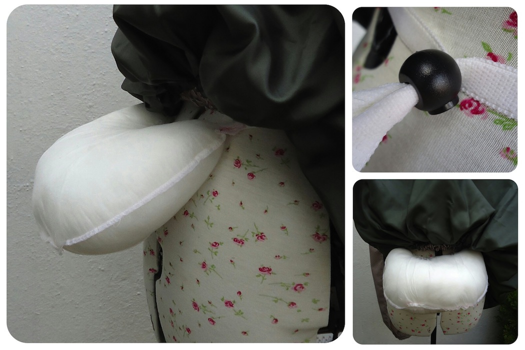 Victorian bustle, homemade!