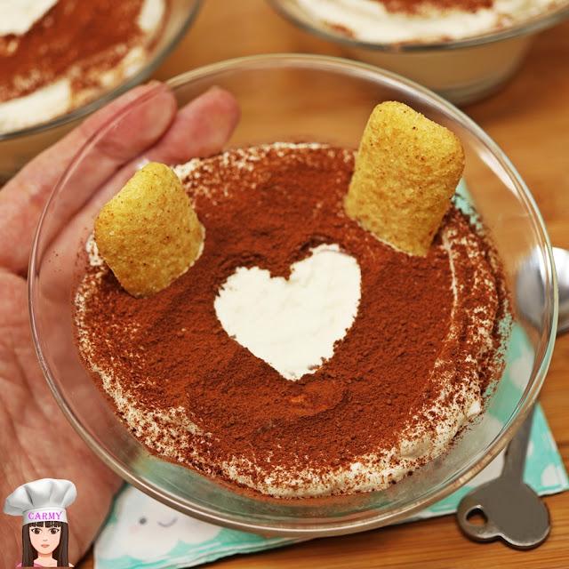 coppette di crema al mascarpone pavesini caffè
