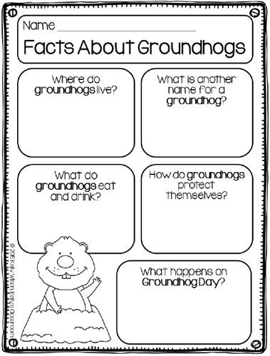 Learn about groundhogs, where they live, what they eat, and how they build their burrows.  Includes a free mini-research printable for classroom use.