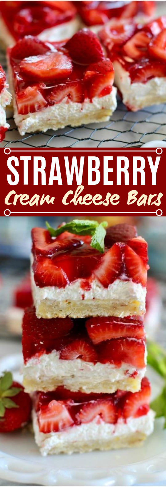 STRAWBERRY CHEESECAKE BARS #desserts #cake