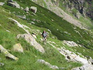 Unterwegs im Bereich der Alpe di Porchiér