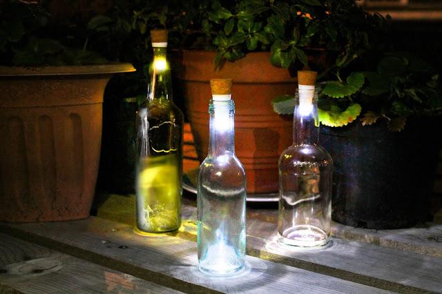 bootle upcycled led light