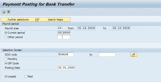 Standard Operating procedure (SOP) of SAP payroll in Post offices