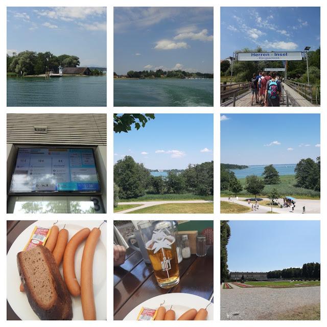 Palácio de Herrenchiemsee - palácio inacabado do rei Ludwig II no meio do lago Chiemsee no sul da Alemanha