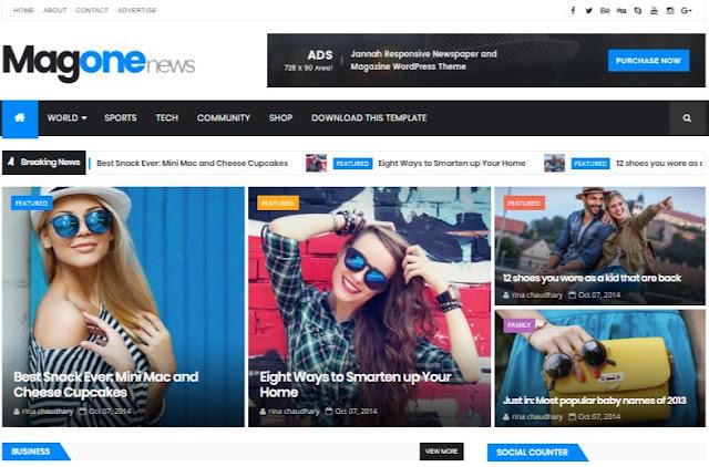 Magone Magazin Blogger Templates Xml File