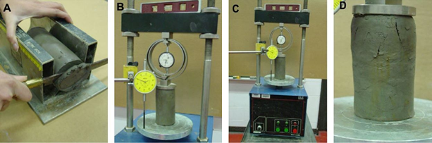 Unconfined Compressive Strength Test of Soil, UCS test