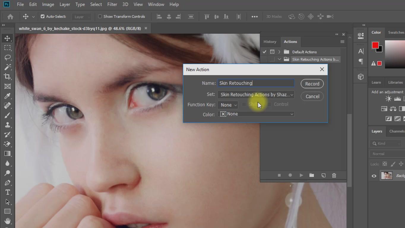 create magic skin retouching actions screenshot 1