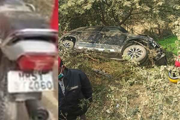 faridabad-badshahpur-village-brezza-car-bike-accident-news