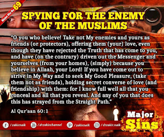 MAJOR SIN. 69. SPYING FOR THE ENEMY OF THE MUSLIMS