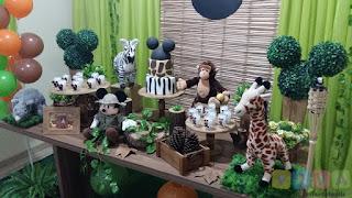 Decoração de festa infantil Mickey Safári