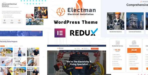 Best Electricity Services WordPress Theme