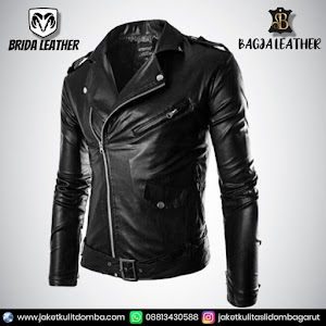 Jual Jaket Kulit Asli Garut Pria Domba Original Brida Leather B52 Ramones   WA 08813430588