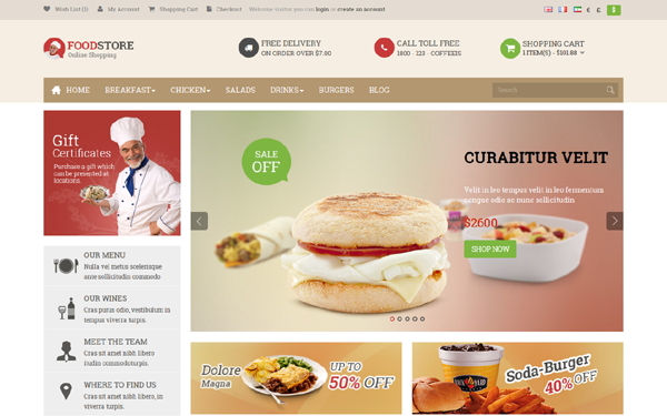 Download Pav Food Store OpenCart Theme - v1 0 | Bootstrap