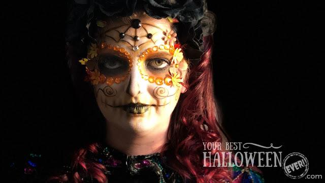 Makeup by Devin Przygoda, sugar skull makeup, Día De Los Muertos