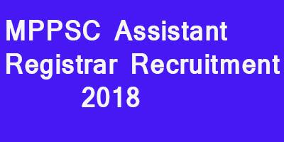 MPPSC Assistant Registrar