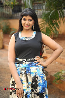 Actress Model Poorni Stills in Floral Long Dress at Silk India Expo Launch  0004.JPG