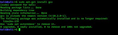 Installing GCC in Kali Linux