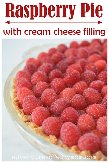 Raspberry Pie with Cream Cheese Filling