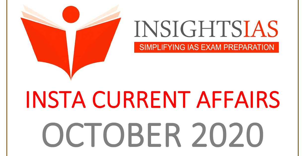 Insights IAS Current Affairs October 2020