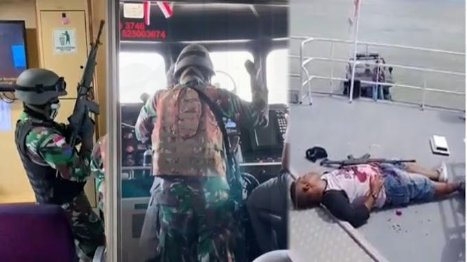 Aksi TNI Bebaskan Sandera Dan Tembak Mati Perompak Kapal MV Oceanna Di Batam
