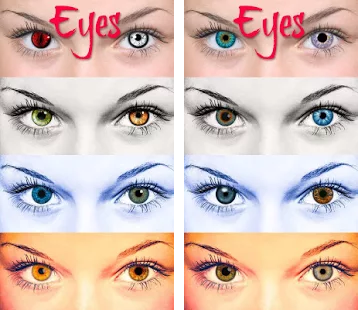 Tampilan Aplikasi Z Camera Eyes Filter Effect