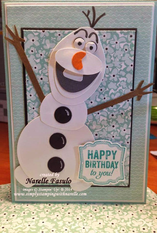 simply stamping with narelle hi i am olaf