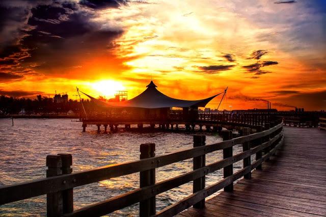 tempat wisata yang romantis di jakarta - sunset ancol