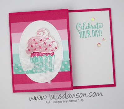 Stampin' Up! Hello Cupcake Pocket Gift Card Holder ~ 2019 Sale-a-Bration ~ www.juliedavison.com