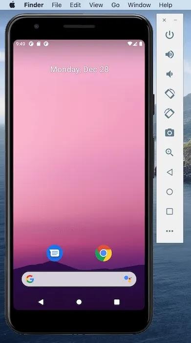 يحتوي Android Studio IDE على محاكي مدمج.