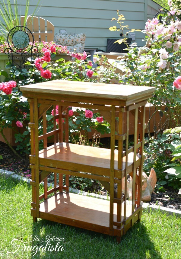 Portable Outdoor Beverage Cart Before
