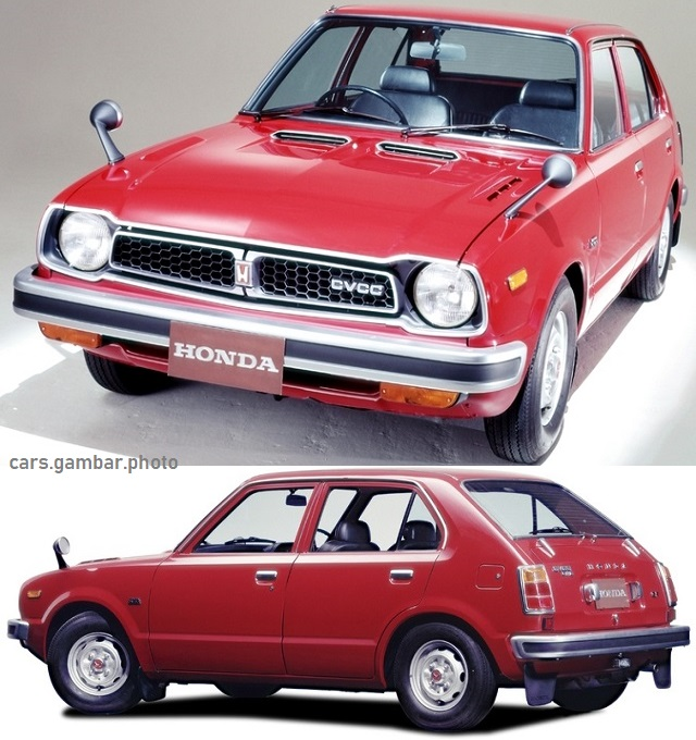 Honda Civic 1976 first gen 4-door red