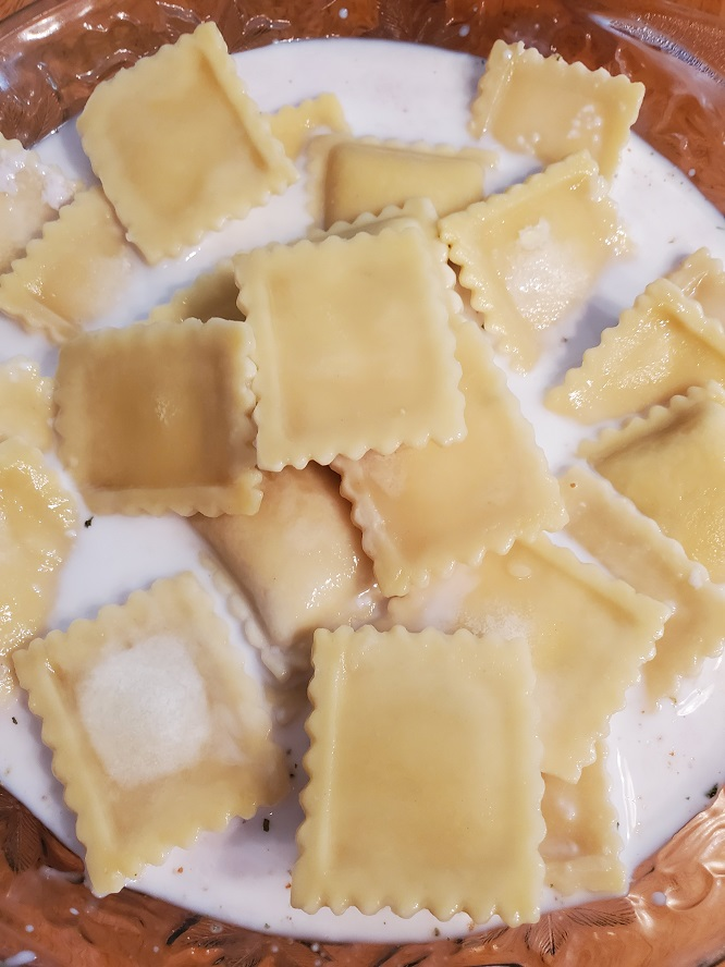 these are ravioli dipped in buttermilk