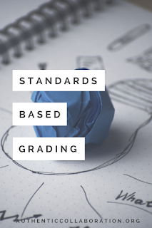 Standards Based Grading: Ideas and Reflections from authenticcollaboration.org #standards #sbg #education #teaching #grading