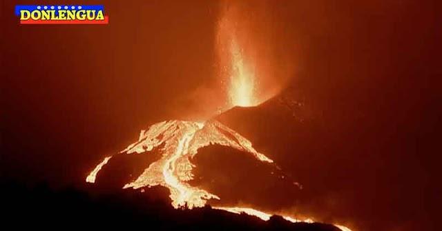 Cono del volcán de La Palma se destruyó causando nuevos derrames de lava
