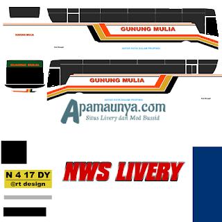 Livery bus gunung mulia titanium trisakti