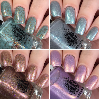 Rogue Lacquer Steampunk Collection swatches