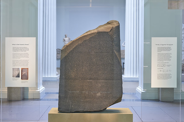 The British Museum publishes the first 3D scan of the Rosetta Stone online